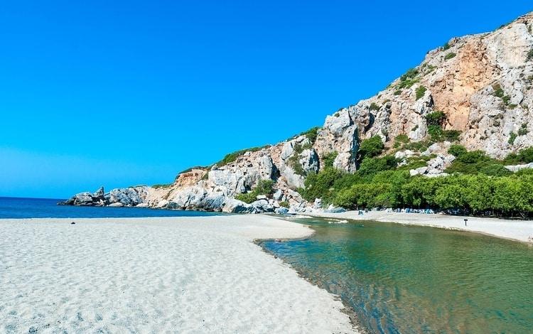 Preveli Beach Kreta stranden