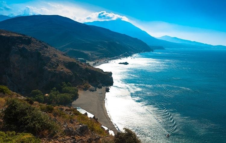Preveli Beach op Kreta