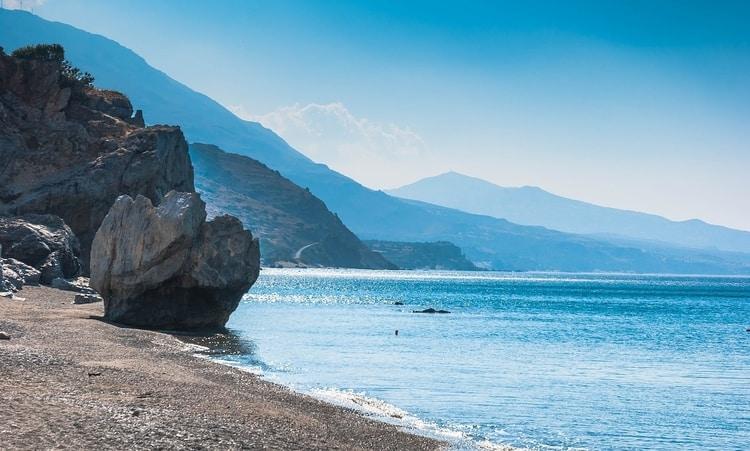 Strand Preveli Beach in Griekenland