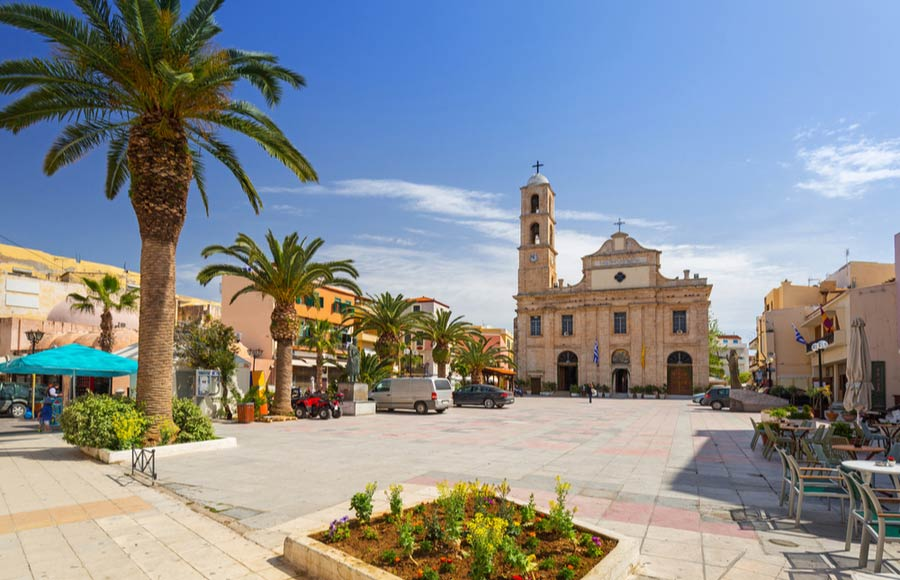 Agios Nikolaos kerk in Chania centrum op plein