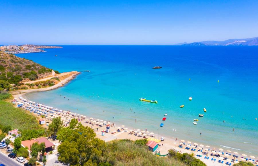 Almyros beach op Kreta