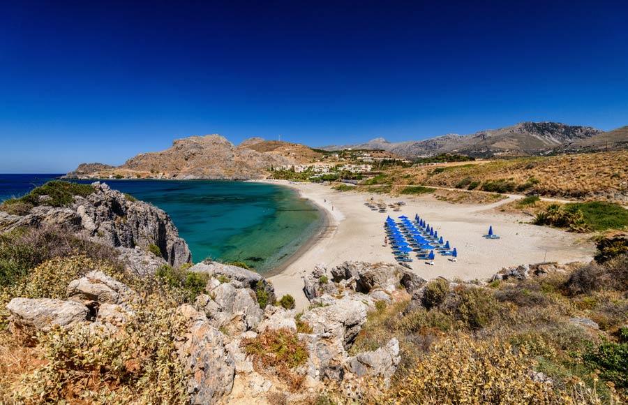 Ammoudi beach op Kreta