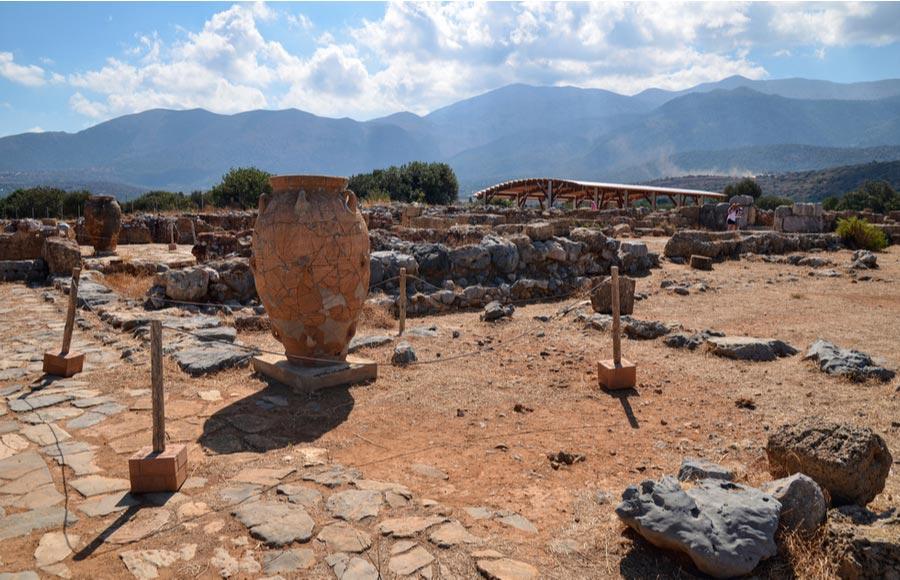 Archeologisch Minoïsche paleis bij Malia