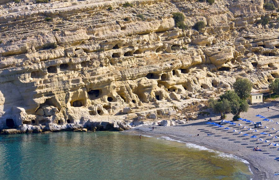 De grotten van Matala