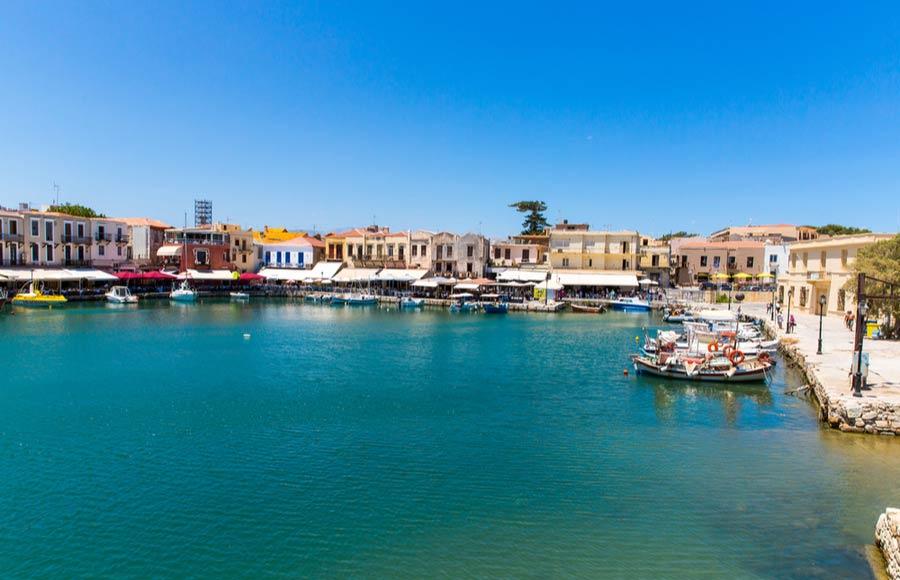 Gezellige Venetiaanse haven in Rethymnon
