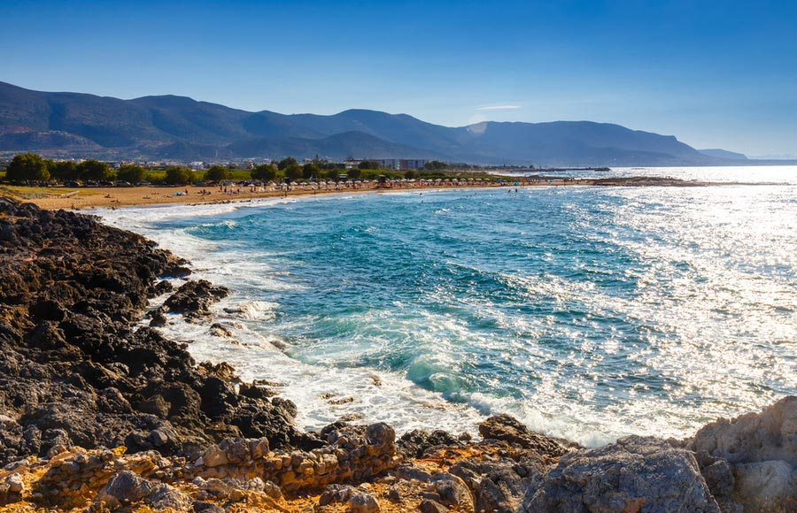 Het strand Malia beach