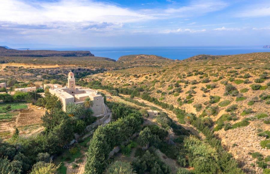 Het Toplou klooster op Kreta