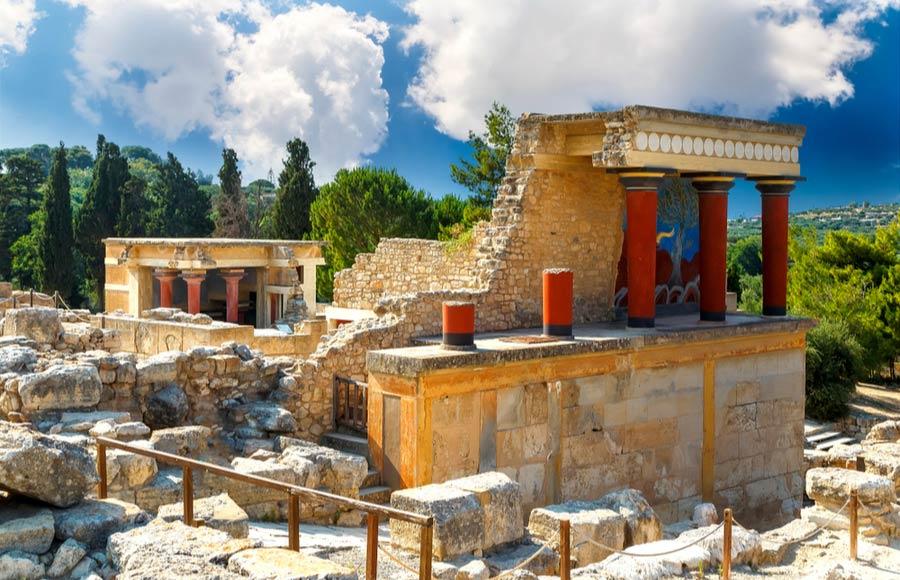 De oude stad Knossos in Heraklion