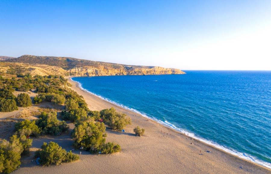 Kommos beach op Kreta