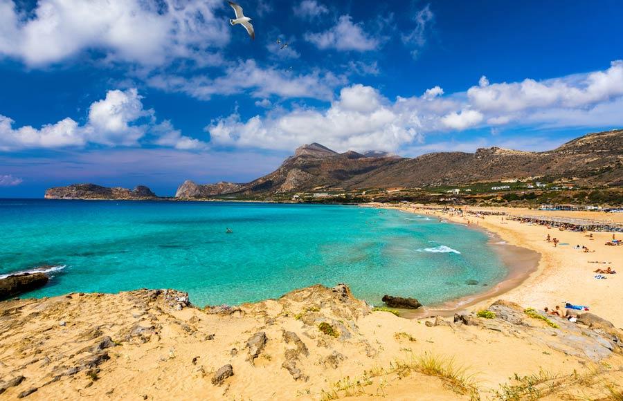 Prachtig plaatje van het Falasarna strand