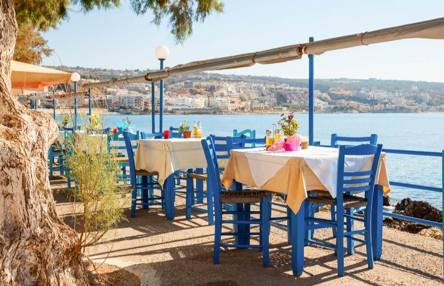 Restaurant aan het water in Heraklion