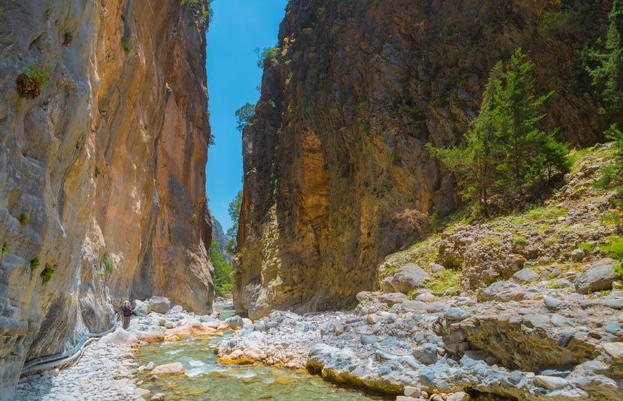 Samaria kloof op Kreta