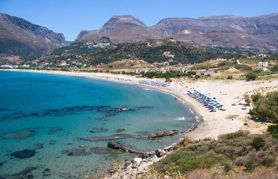 Het strand Plakias beach