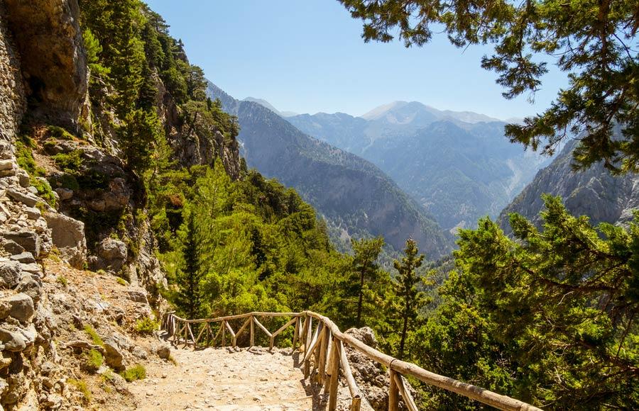 Uitzicht met de vallei van de Samaria kloof