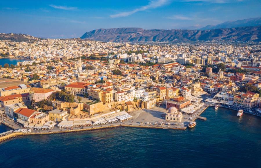Uitzicht over Chania op Kreta