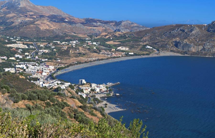 Uitzicht over Plakias op Kreta